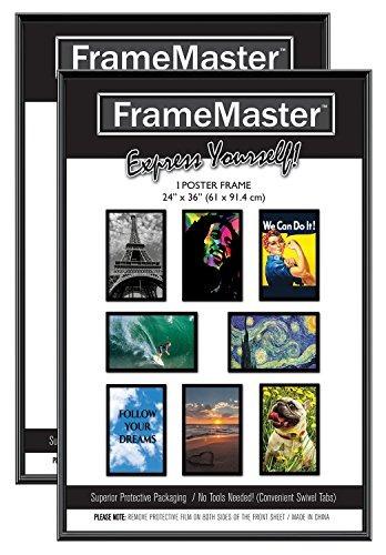 Cartel Marcos Framemaster 24x36 Pulgadas (2-pack); Preensam ...