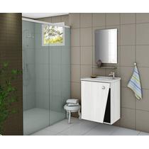 Gabinete Armário Para Banheiro Com Pia Lisboa Branco_fresno