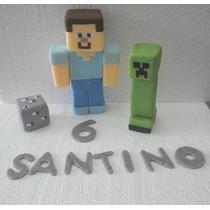 Adorno Minecraft Porcelana Fria Souvenirs
