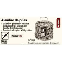 44885 Alambre De Púas, Calibre 12.5, Rollo De 30 K