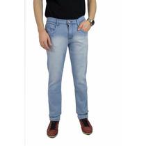 Calça Masculina Skinny Jeans Macio Azul Clarinho Linda