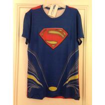 Poleras Dry Fit Superman, Spiderman, Capitan America