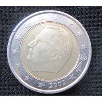 Moeda Da Bélgica 2 Euros 2002 Rei Bimetalica Confira