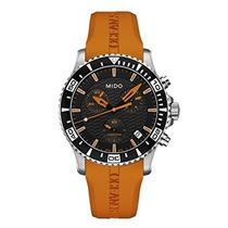Relógio Mido Ocean Star Analog Quartz Orange Rubber