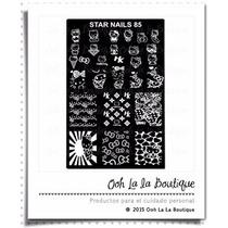 Placa Estampado Uñas Disco Starnails 85 Hello Kitty #425