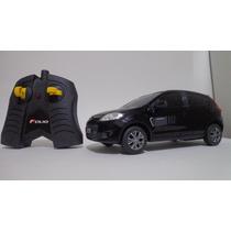 Carro Controle Remoto Fiat Novo Palio Preto 1/18 Cks