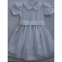 Vestidos De Organza Blanca Con Pollera Forrada. P/ 4 Años