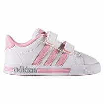 Zapatillas Adidas Neo Daily Team Niños Bebés Blanco C/rosa