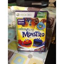 Jogo Xbox 360 Vila Sésamo Era Uma Vez Um Mostro Kinect