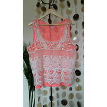 Polera Fluor - Crochet Talla Xl