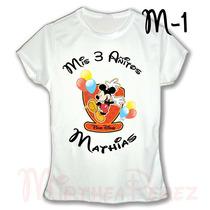Mickey Mouse Franela Camisa Personalizada Cumpleaños