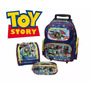 Kit Mochila Toy Story Disney De Rodinhas + Lancheira + Estoj