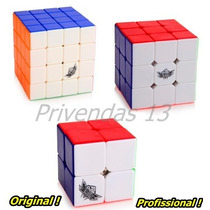 Kit Cubo Mágico Profissional Cyclone Boys 2x2x2 3x3x3 4x4x4