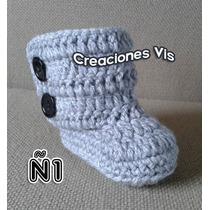 Botas Tipo Uggg Para Bebé Tejidas A Mano Crochet Más Modelos
