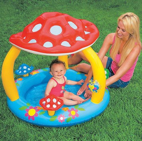 Piscina para bebes inflavel com cobertura do sol r 187 99 em mercado livre - Piscinas para bebes ...