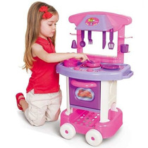 Cozinha Infantil C/ Talheres E Panelinhas Cotiplás Oferta