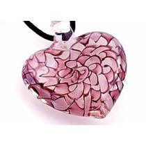 Hermoso Corazón En Cristal Veneciano De La Isla Murano