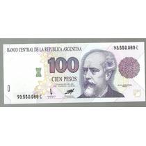 Argentina 100 Pesos Convertibles C/doble Numeracion Bot 3085