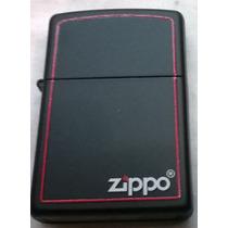 Encendedor Zippo Black Red Border Borde Rojonuevo Original!