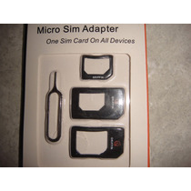 Adaptadores Microsim A Sim-para Micro Sim Chip Iphone Ipad