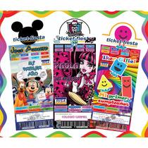 Invitaciones Tipo Ticketmaster Imprimibles