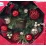Decoração De Natal Guirlanda Natalina 60 Diâmetro Vermelha