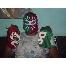 Lote De 3 Mascaras Tricolores Economicas Luchadores Mistico