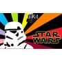 Kit Imprimible Star Wars Fiesta Cumpleaños Torta Espacial