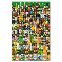 Cervezas Vintage En Tela Canvas Bastidor De 70x50 Cm Exelent