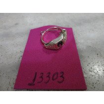 #13303- Bijuteria Anel Prata Antigo, Aro 12!!