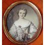 Antiga Pintura Em Miniatura S/ Celuloide Fig. Dama 11x9,5cm