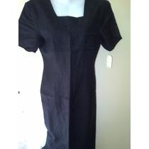 Vestido De Lino Negro