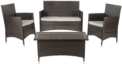 Juego de sillones con mesa central para jardin exterior for Cuanto sale hacer una pileta de material 2016