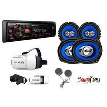 Oferta Stereo Pioneer + Lente Virtual+4 Parlantes + Tweeter