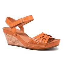 Zapatos Clarks Rusty Wish En Marron Y Coral De Dama