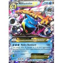 Carta Pokemon Mega Blastoise Ex X Y Inglês