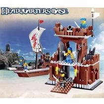 Navio Piratas Do Caribe Barco Pirata Forte Lego Compatível