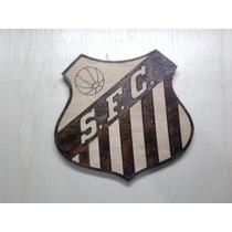 Escudo Santos Madeira Pirógrafo Brasão.