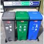 Punto Ecológico 53 Litros 3 Canecas De Reciclaje Basura
