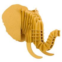 Elefante Amarillo Cabeza Decorativa Animal Valchromat8mm