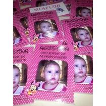 25 Souvenirs Imanes Con Foto Mickey Y Minnie Bebe 7 X 10 Cm