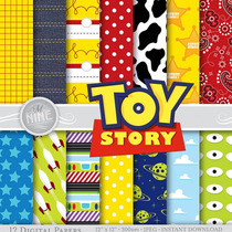 Kit Imprimible Pack Fondos Toy Story 2 Clipart