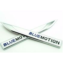 Par Adesivo Emblema De Metal Lateral Bluemotion Golf Tsi