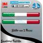 Banderas Italia Para Parrilla X2 Encapsuladas C/relieve 3d