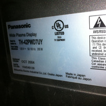 Panasonic Th-42pwd7uy Y Th-37pwd7uy Refaccion Fuente Poder