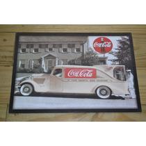 Coca-cola Camión De Reparto Preciosa Lamina Coleccionable