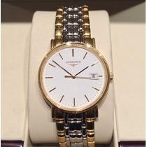 Reloj Longines Hombre Mod Presence Bicolor Nuevo