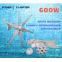 Turbina Eólica Aerogenerador 12vac/600w Sin Controlador