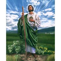 Lienzo En Tela. San Judas Tadeo. 50 X 70 Cm.gratis 3 Posters