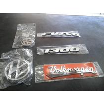 Kit Emblema Fusca Mala Capo Fusca 1300 + Volkswagen